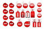 Vector set of sale tags Stock Photo - Royalty-Free, Artist: sutike                        , Code: 400-04656919