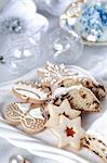 Still life with delicious Christmas cake and cookies Stock Photo - Royalty-Free, Artist: Brebca                        , Code: 400-04659514