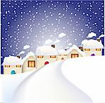 Christmas village Stock Photo - Royalty-Free, Artist: balasoiu                      , Code: 400-04666598