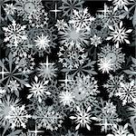 Seamless snowflakes background for winter and christmas theme Stock Photo - Royalty-Free, Artist: angelp                        , Code: 400-04666992