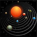 Solar system image isolated on a black background. Stock Photo - Royalty-Free, Artist: cteconsulting                 , Code: 400-04668594