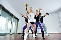 young healthy people group exercise fitness and get fit Stock Photo - Royalty-Freenull, Code: 400-04671286