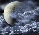 Illustration - a fantastic beautiful moon
