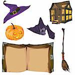 Halloween collection in vector format Stock Photo - Royalty-Free, Artist: orensila                      , Code: 400-04678529