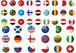circular flags of the world on a white background Stock Photo - Royalty-Free, Artist: Nicemonkey                    , Code: 400-04679587