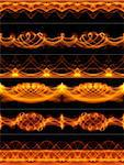 6 fire patterns, that can be looped horizontally and used as various borders Stock Photo - Royalty-Free, Artist: alex_nemez                    , Code: 400-04689035