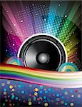 Rainbow Disco Background with speaker and stars Stock Photo - Royalty-Free, Artist: BooblGum                      , Code: 400-04694367