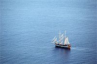 Wooden cruise boat in the mediterranean sea Stock Photo - Royalty-Freenull, Code: 400-04696077