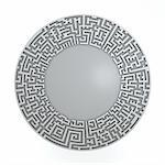 Grey radial maze without solution.  Three-dimensional,  isolated on white Stock Photo - Royalty-Free, Artist: kesman                        , Code: 400-04696205