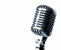 Vintage Microphone With Text Area Stock Photo - Royalty-Freenull, Code: 400-04697675