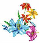 a vivid illustration of some nice flower Stock Photo - Royalty-Free, Artist: bluesee                       , Code: 400-04697738