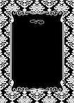 Vector damask frame. Easy to scale and edit. Pattern is included as seamless swatch Stock Photo - Royalty-Free, Artist: createfirst                   , Code: 400-04702428