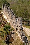 Maya ruins at the south side of Uxmal, the house of the doves as seen from the top of the great pyramid, Uxmal, Yucatan, Mexico Stock Photo - Royalty-Free, Artist: oralleff                      , Code: 400-04705389