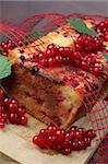 Homemade sponge cake with fresh organic red currants Stock Photo - Royalty-Free, Artist: ingridhs                      , Code: 400-04707343