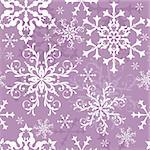 Seamless violet and white christmas pattern (vector)