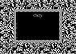 Vector floral frame. Easy to scale and edit. Pattern is included as seamless swatch Stock Photo - Royalty-Free, Artist: createfirst                   , Code: 400-04711060