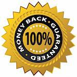An image of a 100% money back guaranteed stamp. Stock Photo - Royalty-Free, Artist: cteconsulting                 , Code: 400-04712603