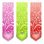 Glossy heart. Vector love card. Illustration in various color. Stock Photo - Royalty-Free, Artist: Designer_things               , Code: 400-04714071