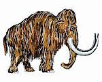 painted mammoth on white background Stock Photo - Royalty-Free, Artist: drizzd                        , Code: 400-04714129