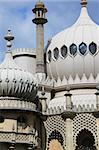 onion domes, towers and minarets forming the roof of the royal pavilion palace in brighton england, King George IV's summer house and Regency folly Stock Photo - Royalty-Free, Artist: donsimon                      , Code: 400-04718758