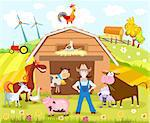 vector illustration of a farm