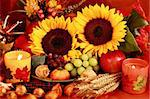 Still life and harvest or table decoration for Thanksgiving Stock Photo - Royalty-Free, Artist: Brebca                        , Code: 400-04719975