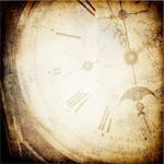 Antique pocket clock face. Grunge background with copyspace.  Stock Photo - Royalty-Free, Artist: pashabo                       , Code: 400-04720818