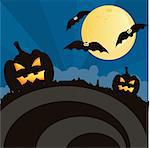 scary halloween landscape Stock Photo - Royalty-Free, Artist: LxIsabelle                    , Code: 400-04721661