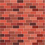Brick wall with different color tones Stock Photo - Royalty-Free, Artist: hibrida13                     , Code: 400-04722870