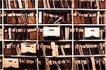 Office shelves full of files and boxes Stock Photo - Royalty-Free, Artist: eric1513                      , Code: 400-04724447