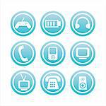 set of 9  technology signs Stock Photo - Royalty-Free, Artist: LxIsabelle                    , Code: 400-04724618