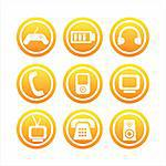 set of 9  technology signs Stock Photo - Royalty-Free, Artist: LxIsabelle                    , Code: 400-04724622