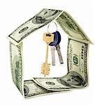 Dollar house on white background Stock Photo - Royalty-Free, Artist: Givaga                        , Code: 400-04725941
