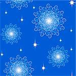 Seamless pattern from  snowflakes(can be repeated and scaled in any size) Stock Photo - Royalty-Free, Artist: Lep                           , Code: 400-04726558