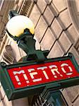 Metro sign in Paris, France Stock Photo - Royalty-Free, Artist: csp                           , Code: 400-04726596