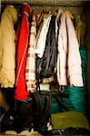closet detail at home under disaster! Stock Photo - Royalty-Free, Artist: csp                           , Code: 400-04726646