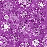 Repeating violet and white christmas wallpaper (vector)