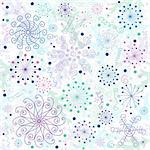 Seamless pastel christmas white wallpaper (vector) Stock Photo - Royalty-Free, Artist: OlgaDrozd                     , Code: 400-04728478