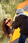 FamilyCamping at Colorado Rocky Mountains Stock Photo - Royalty-Free, Artist: Studio1One                    , Code: 400-04728969