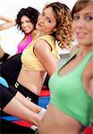 close up of group of girls working out at gym Stock Photo - Royalty-Free, Artist: get4net                       , Code: 400-04729411