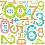 Abstract background with colorful numbers Stock Photo - Royalty-Free, Artist: orsonsurf                     , Code: 400-04730042