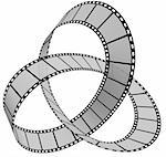 3d Film Strip. White background. Digitally Generated. Stock Photo - Royalty-Free, Artist: gibsonff                      , Code: 400-04731766