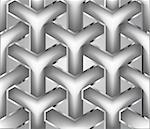 Chainlink fence isolated against a metal background. Vector illustration Stock Photo - Royalty-Free, Artist: emaria                        , Code: 400-04734025