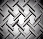 Chainlink fence isolated against a metal background. Vector illustration Stock Photo - Royalty-Free, Artist: emaria                        , Code: 400-04734027