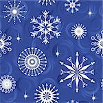Seamless pattern from  snowflakes(can be repeated and scaled in any size) Stock Photo - Royalty-Free, Artist: Lep                           , Code: 400-04736199