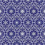 Seamless pattern from  snowflakes and  frosty patterns(can be repeated and scaled in any size) Stock Photo - Royalty-Free, Artist: Lep                           , Code: 400-04736219