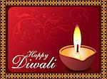 diwali background vector illustration Stock Photo - Royalty-Free, Artist: pathakdesigner                , Code: 400-04737947