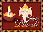 diwali background vector illustration Stock Photo - Royalty-Free, Artist: pathakdesigner                , Code: 400-04737950