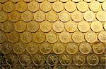 gold coins , money background, of Hong Kong currency $0.5 coins Stock Photo - Royalty-Free, Artist: leungchopan                   , Code: 400-04739389