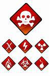 illustration of set of warning sign icons Stock Photo - Royalty-Free, Artist: get4net                       , Code: 400-04744910